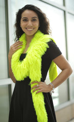 Faux Fur Festival Boa - Hot Yellow - Happy Boa: Faux Feather Boa