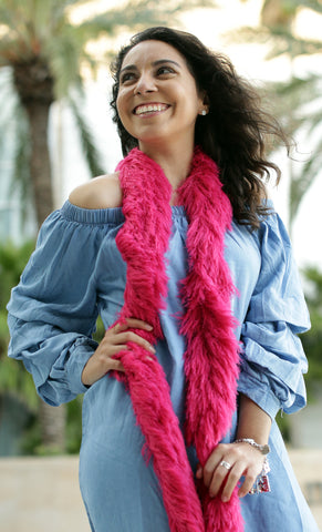 Faux Fur Festival Boa - Hot Pink - Happy Boa: Faux Feather Boa