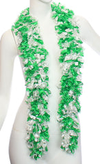 Original Featherless Boa - Paddy (Green and White) - Happy Boa: Faux Feather Boa