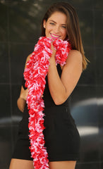 Original Featherless Boa - Valentine (Red and Soft Pink) - Happy Boa: Faux Feather Boa