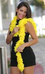 Original Featherless Boa - Yellow - Happy Boa: Faux Feather Boa