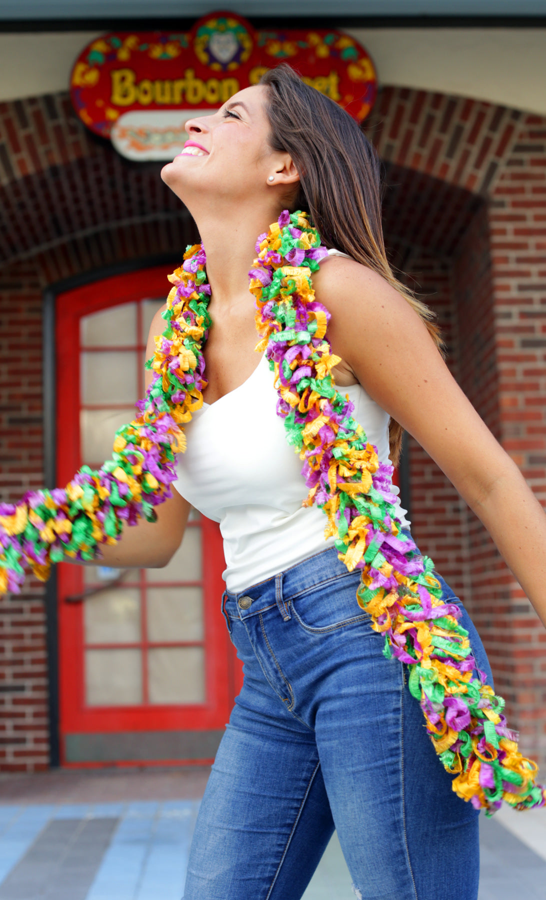 Original Featherless Boa - Mardi Gras - Happy Boa: Faux Feather Boa