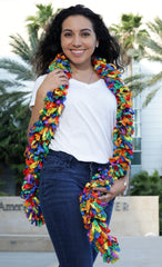 Original Featherless Boa - Rainbow Explosion - Happy Boa: Faux Feather Boa