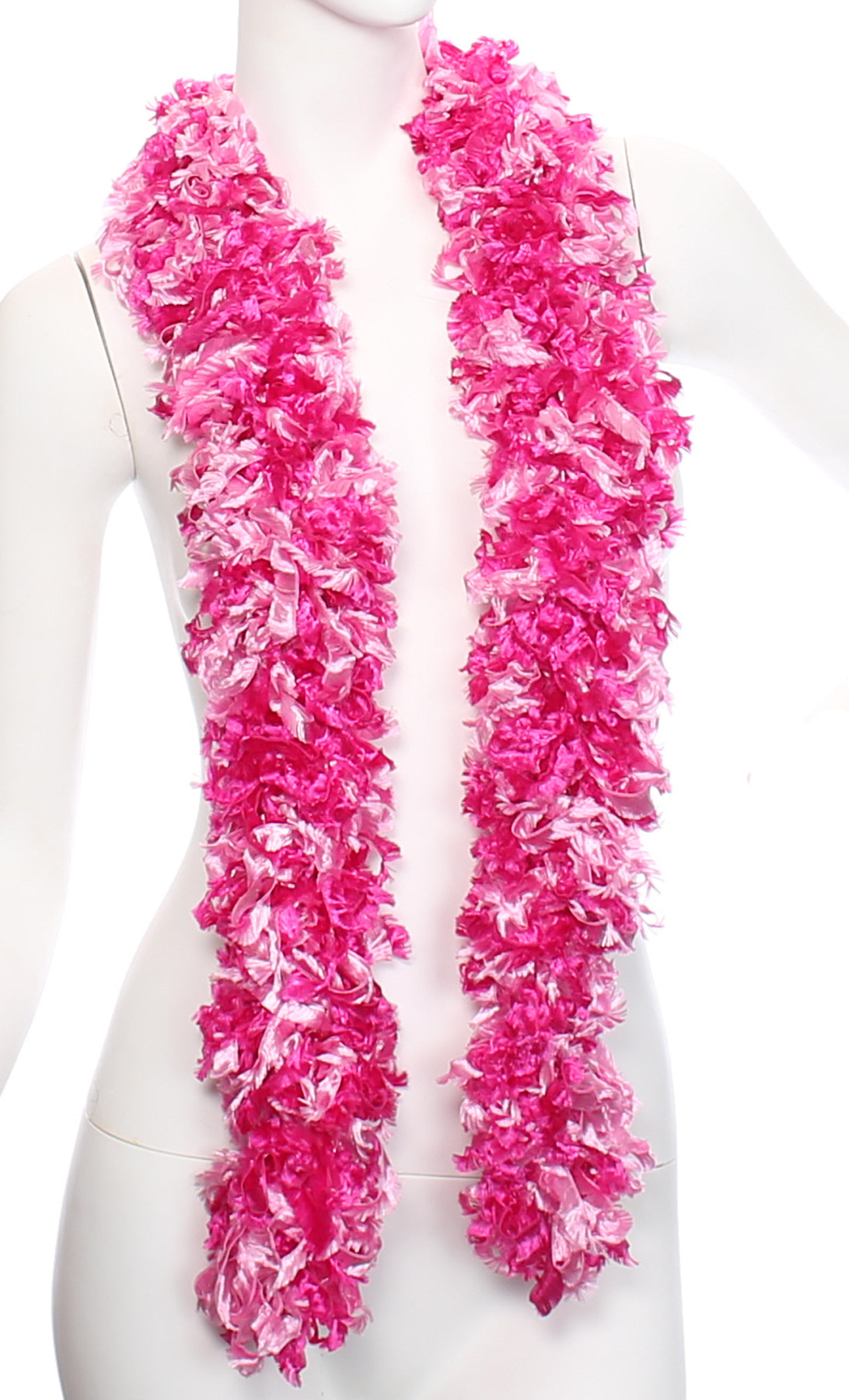 Original Featherless Boa - Pink Mix - Happy Boa: Faux Feather Boa