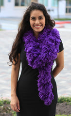 SUPER Sized Featherless Boa - Purple - Happy Boa: Faux Feather Boa