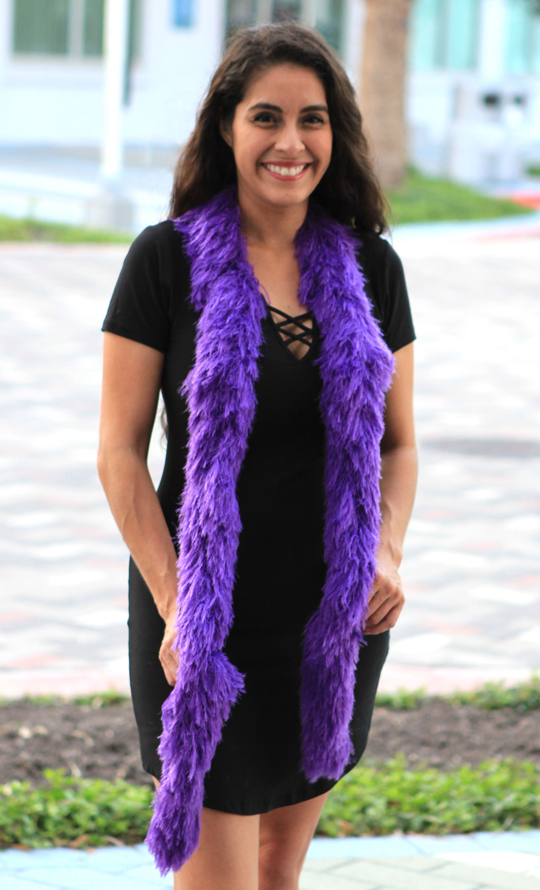 Faux Fur Festival Boa - Purple - Happy Boa: Faux Feather Boa