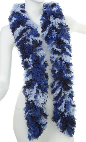 SUPER Sized Featherless Boa (XL) - Blue Multi-Color - Happy Boa: Faux Feather Boa
