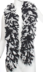 SUPER Sized Featherless Boa - Black and White - Happy Boa: Faux Feather Boa