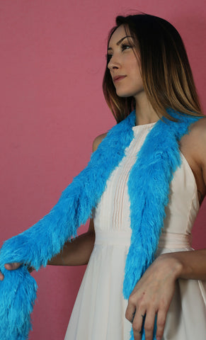 Faux Fur Festival Boa - Bisbee Blue - Happy Boa: Faux Feather Boa