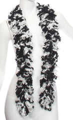 Original Featherless Boa - Black and White - Happy Boa: Faux Feather Boa