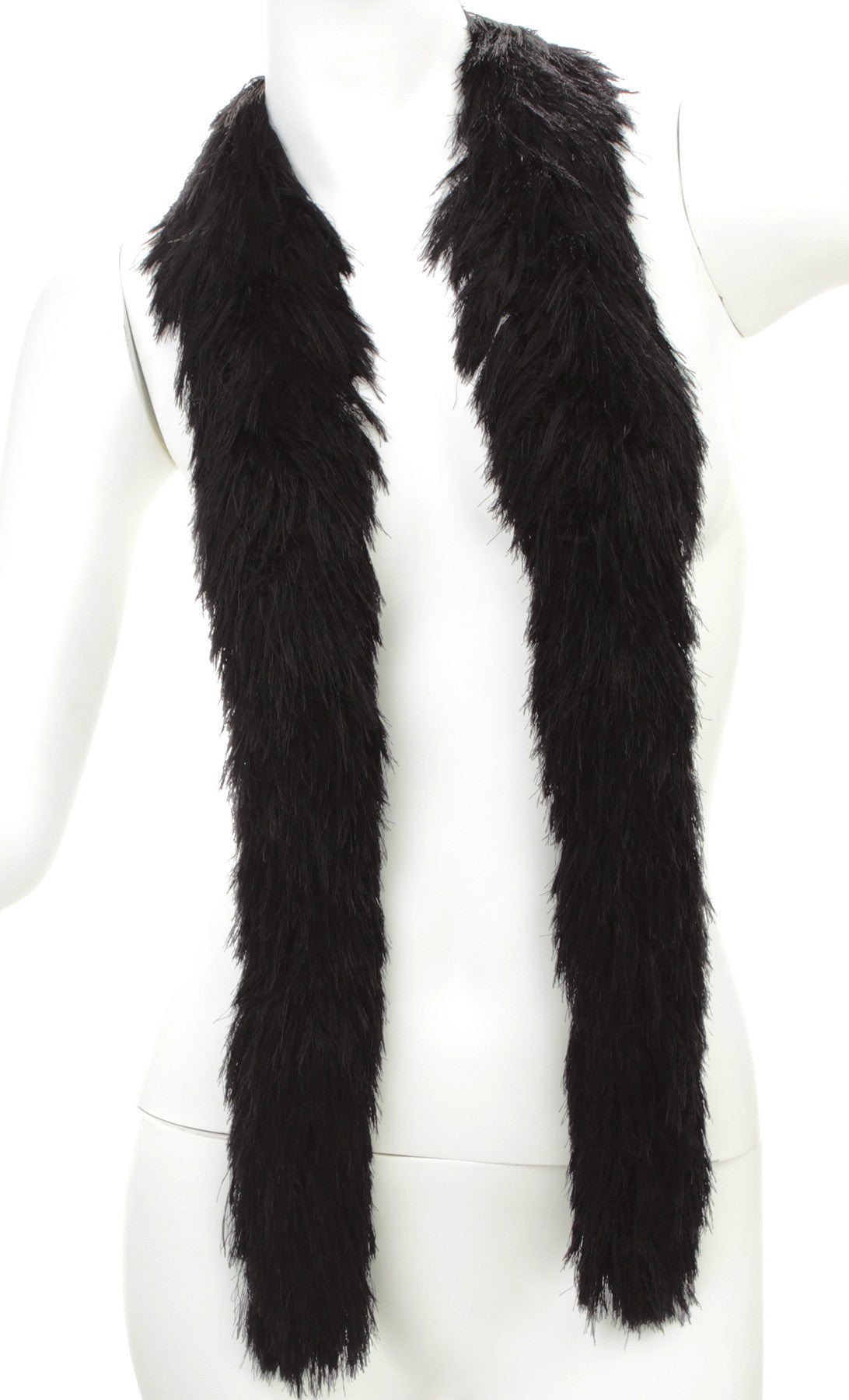 Faux Fur Festival Boa - Black