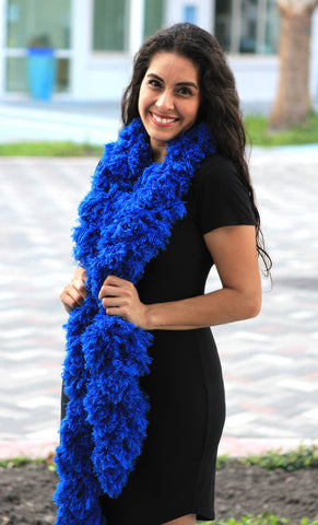 SUPER Sized Featherless Boa - Blue - Happy Boa: Faux Feather Boa