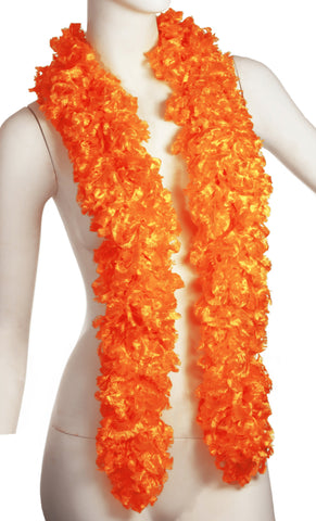 Original Featherless Boa - Orange - Happy Boa: Faux Feather Boa