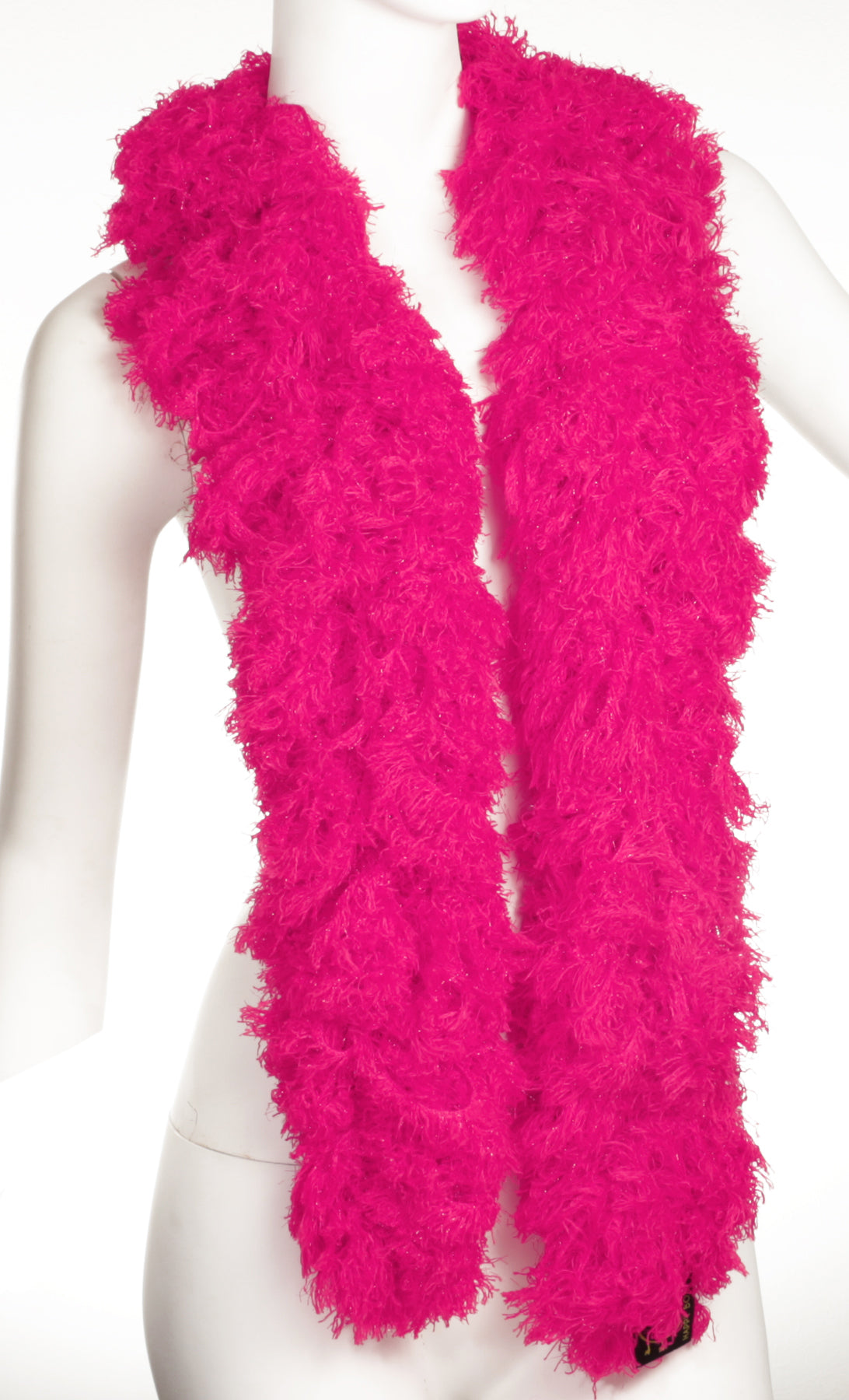 SUPER Sized Featherless Boa - Hot Pink - Happy Boa: Faux Feather Boa