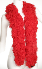 SUPER Sized Featherless Boa - Red - Happy Boa: Faux Feather Boa