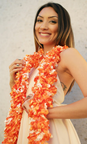 Original Featherless Boa - Luau Orange