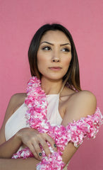 Original Featherless Boa - Luau Pink - Happy Boa: Faux Feather Boa