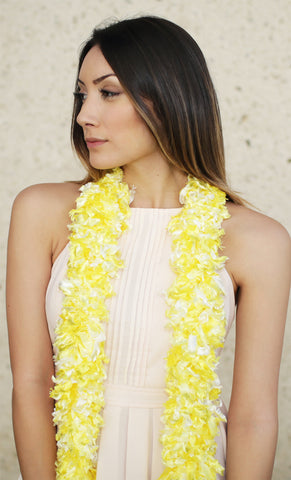 Original Featherless Boa - Luau Yellow - Happy Boa: Faux Feather Boa