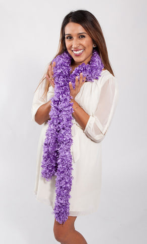 Original Featherless Boa - Purple - Happy Boa: Faux Feather Boa