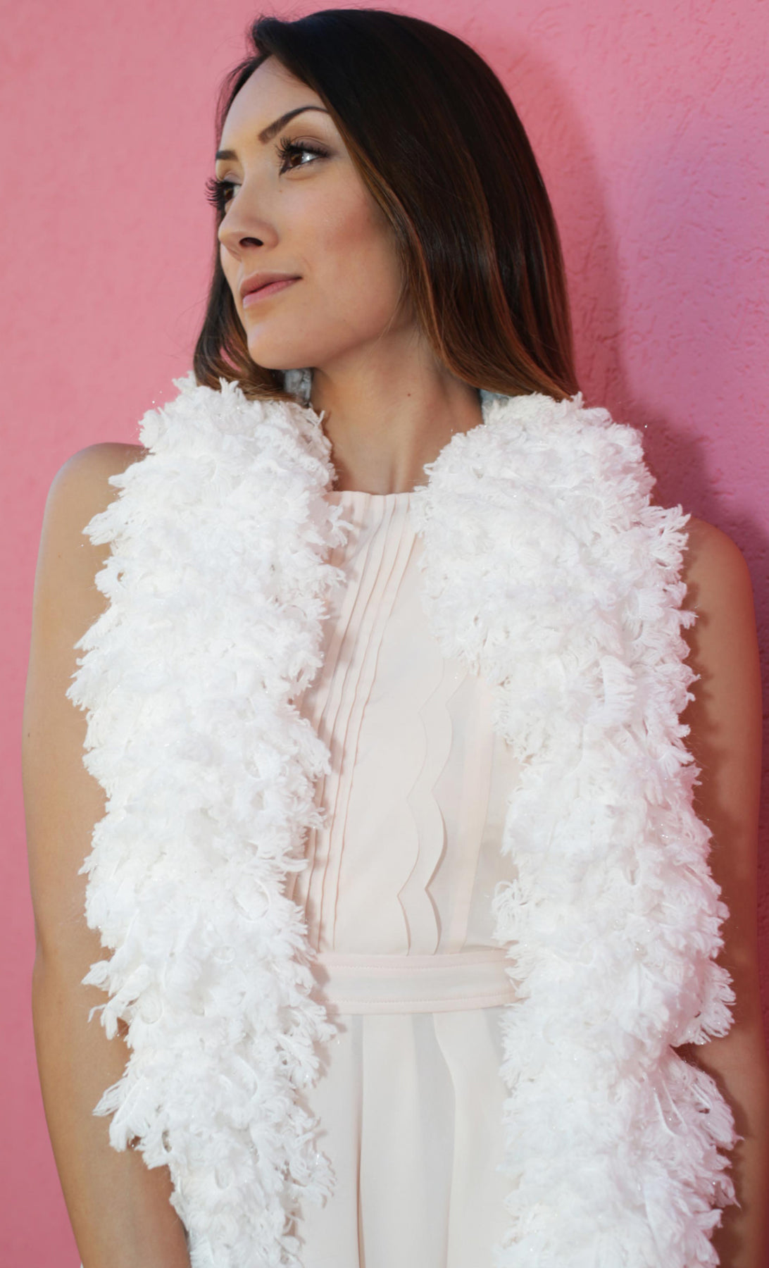 SUPER Sized Featherless Boa - Snow White - Happy Boa: Faux Feather Boa