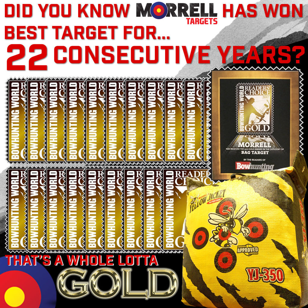 Morrell® Archery Targets win Bowhunting World Readers' Choice Gold Award 22 years in a row!