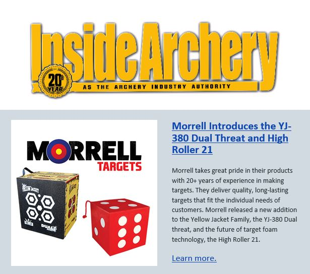 Inside Archery Article on Morrell's YJ380 Dual Threat and High Roller 21 Archery Targets