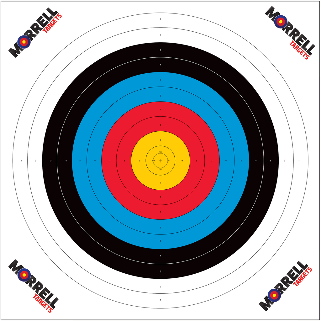 80cm Archery Target Paper Face (OFFICIAL NASP SCORING PAPER)(100 pack)