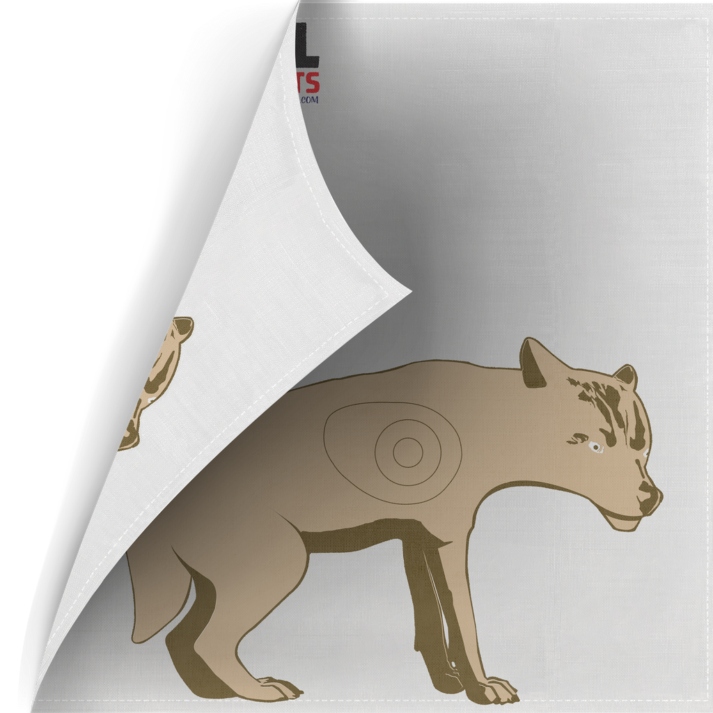 Two Sided Polypropylene Target Face - Coyote