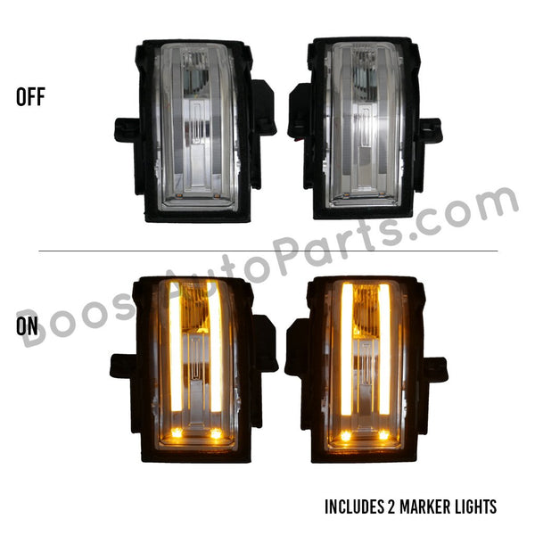 ford tow mirror f150 f-150 f250 f350 f-350 switchback switch back light lights led amber white