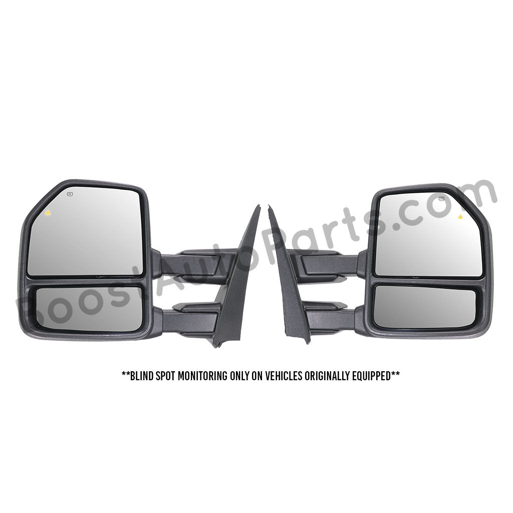 JZSUPER Towing Mirrors for Ford F150 Pickup Truck 2015 2016 2017 8 Pin Plug Power Heated with Turn Signal