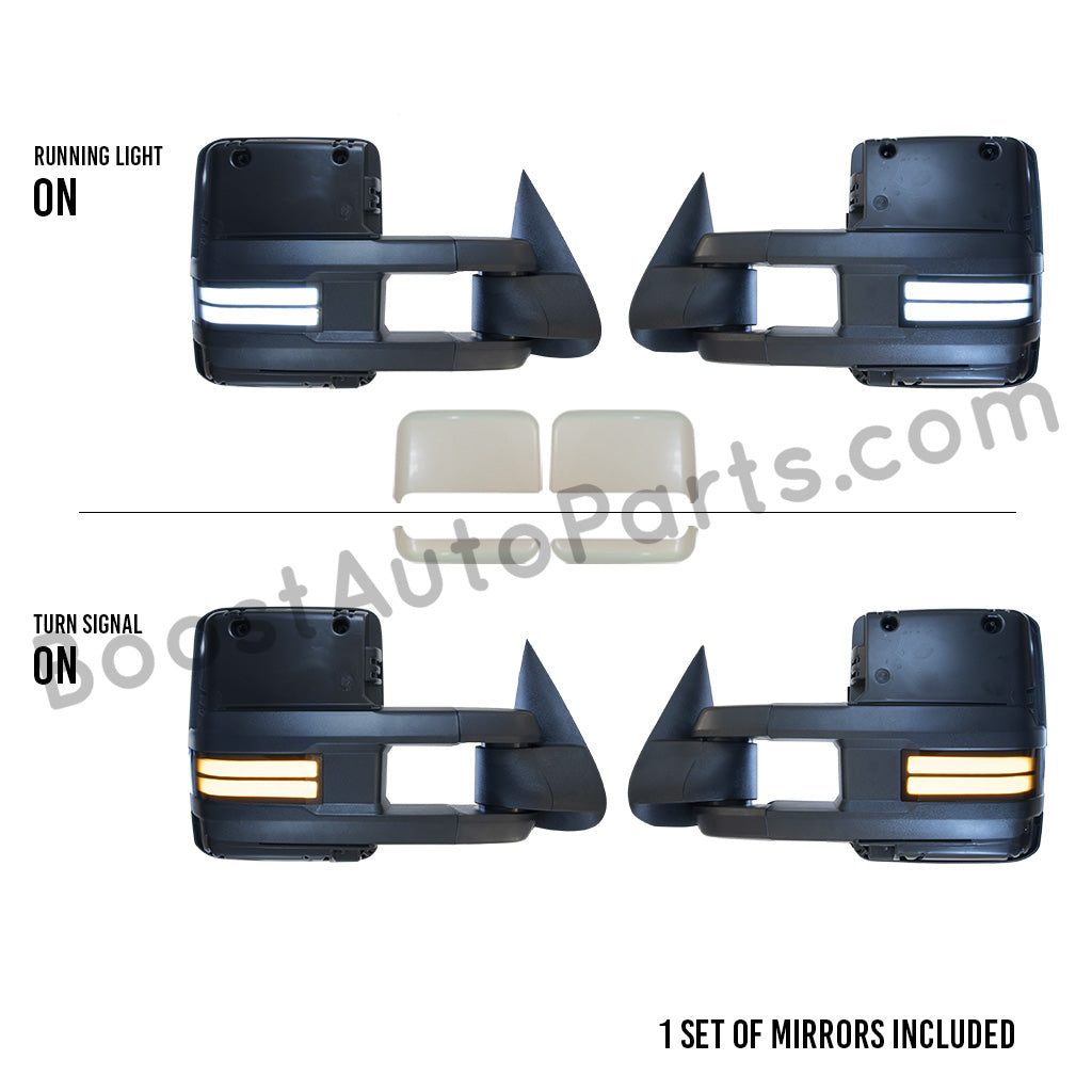TRUCK MIRRORS ! NEW PAIR OF RIGHT AND LEFT CLASSIC STYLE L.E.D