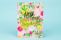 Floral Address Book