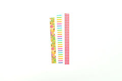 Floral Stripe Gingham Paper Tape Set