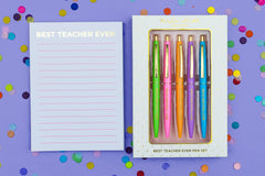 Best Teacher Ever Pen, Journal and Notepad Bundle