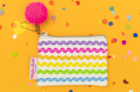 Ric Rac Card Holder Mini Pouch