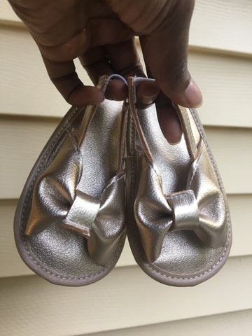 Baby Girl Bow Leather Sandals/Flipflop Sandals-Infant, Toddler
