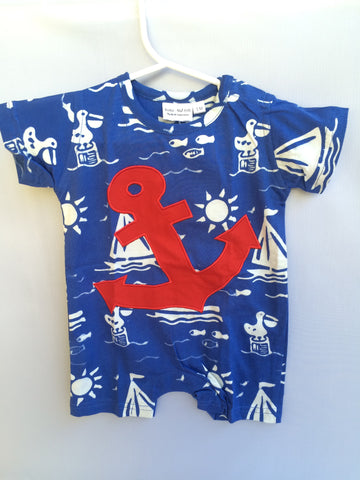 Nautical Baby Boys Short Sleeve Summer Romper
