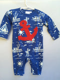 Nautical Boys Longall Summer Romper