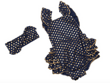Navy Blue Polka Dots Seaside Bella Baby, Toddler Summer Romper with Headband