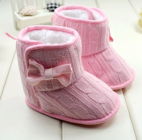 Baby Cable Knit Faux Fur Winter Boots-Infant, Toddler