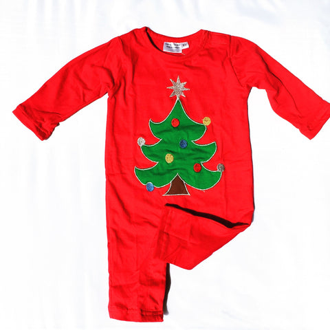 Toddler Christmas Tree.Christmas Tree Applique Boys Longall Infant Toddler