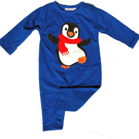 Penguin Applique Christmas Boys Longall-Infant, Toddler