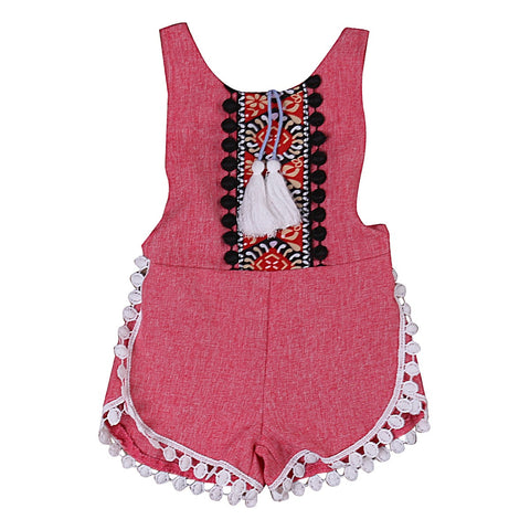 Baby Girl Boho Summer Jumpsuit/Romper-Infant, Toddler