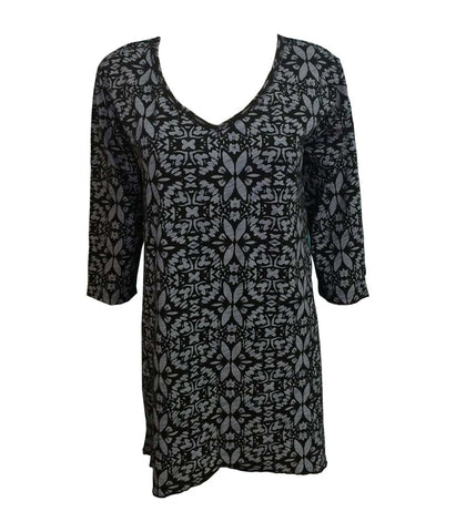 Fresh Produce Island Batik Santa Barbara Pullover Top, Black