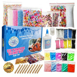 Ultimate Slime Kit for Girls and Boys - Supplies and Add Ins for DIY Slime: Air Dry Clay, Pigment Powder, Fishbowl Beads, Foam Beads, Nail Slices, Glitter Stars, Fake Sprinkles