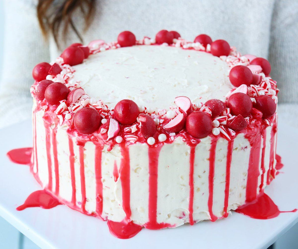 Peppermint White Chocolate Layer Cake