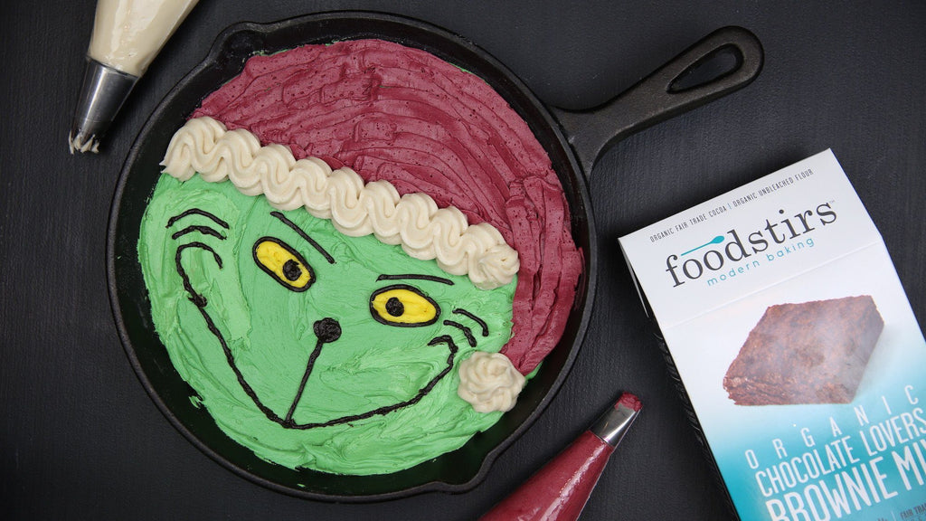 The Grinch Skillet Brownie