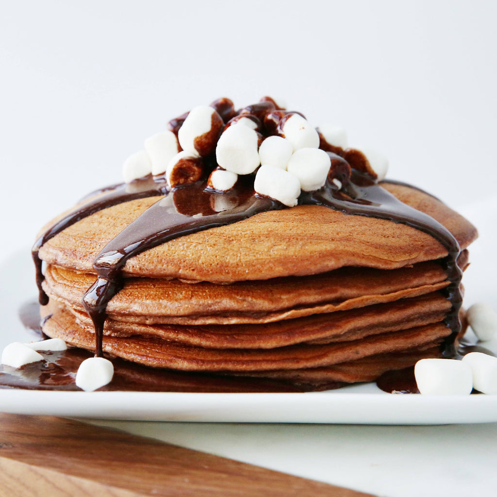 Hot Chocolate Peppermint Pancakes