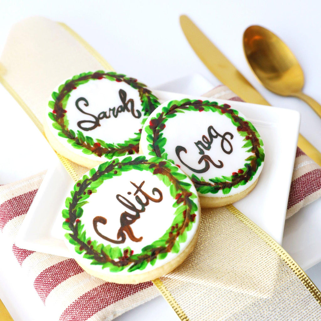 Foodstirs Organic Simply Sweet Personalized Name Plate Cookies