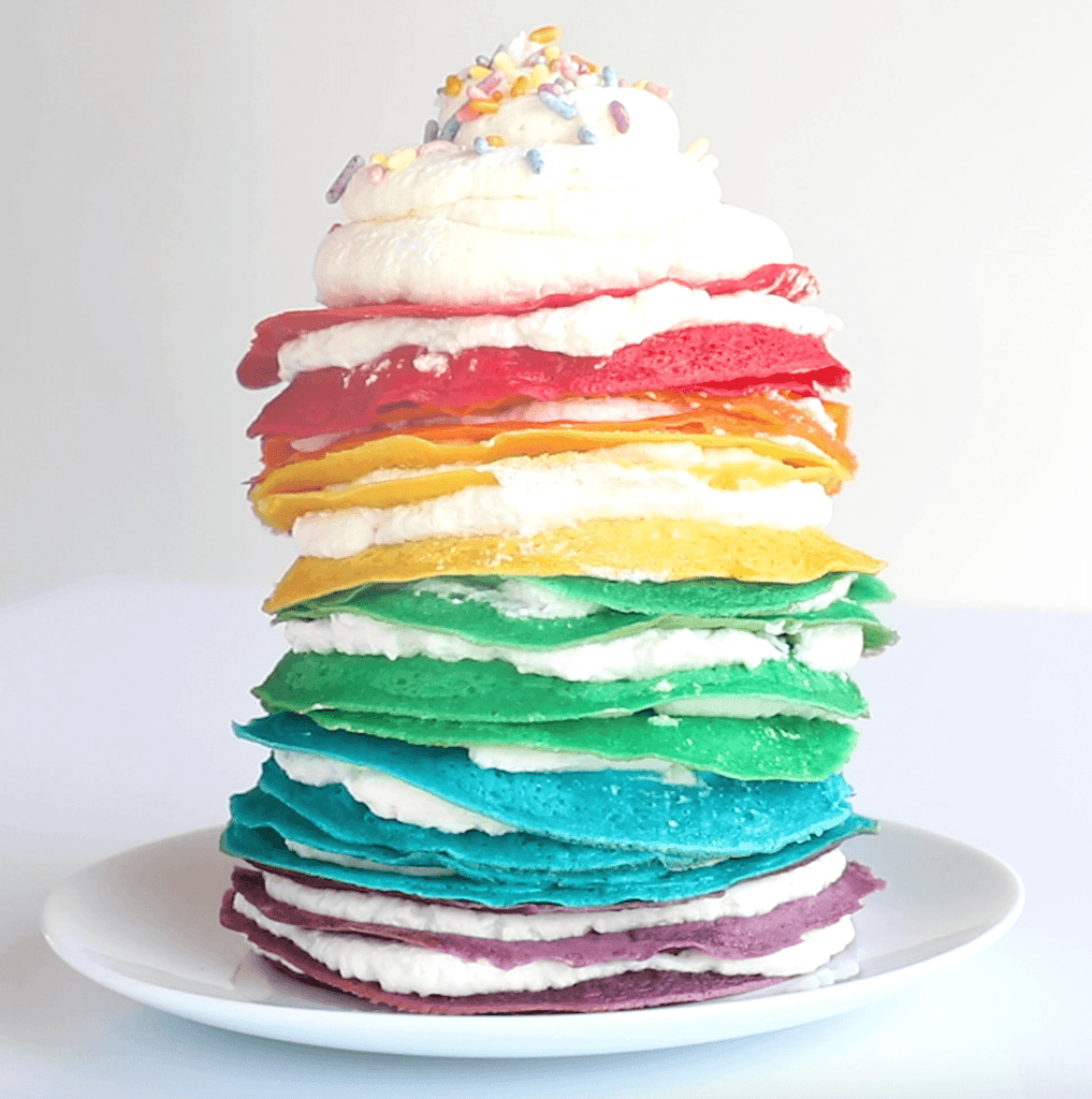 Foodstirs Organic Sunday Stacks Rainbow Crêpe Cake